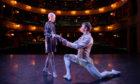 Lily Douglas with Scottish Ballet Principal dancer Christopher Harrison at Theatre Royal Glasgow.