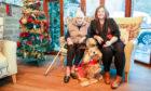 Sarah-Jane Patterson (Black) with Resident Nancy Wilson (89) Resident Dog Penny Adams (10) - Wednesday 18th December 2019 - Steve Brown / DCT Media