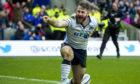 Scotland's Tommy Seymour celebrates another international try.