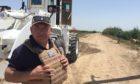 Frank at work in Fallujah, Iraq.