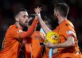 Nicky Clark celebrates his goal.