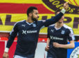 Kane Hemmings scores at Firhill.