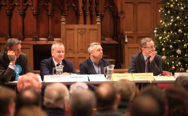 The Perth and North Perthshire candidates at the hustings in St Mathew's Church Perth.