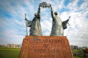 The declaration of Arbroath statue.