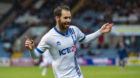James Keatings celebrates making it 2-0 to Inverness.
