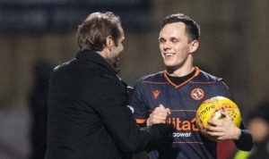 Dundee United striker Lawrence Shankland has nothing to prove when he faces Premiership opponents