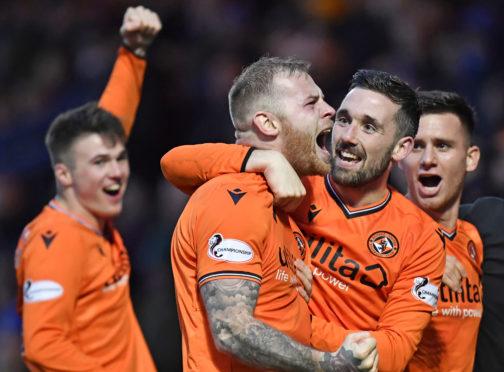 Mark Connolly celebrates his goal.