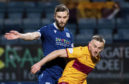 Jamie Ness in action against Motherwell.