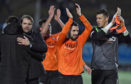 Dundee United celebrate another win.