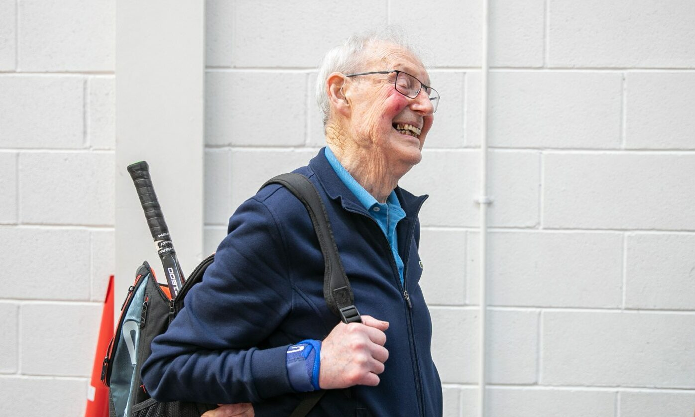 Dundee man still playing tennis at 90 reveals secret to fitness